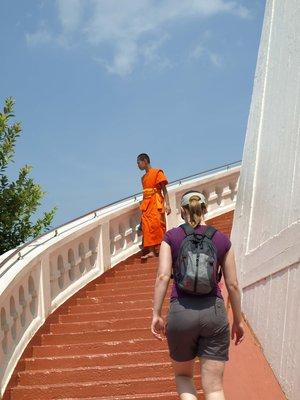 Stairway encounter