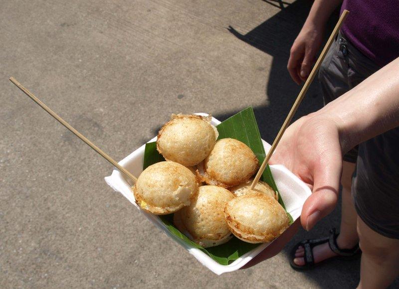 Kannom Krok, a traditional Thai sweet breakfast or desert