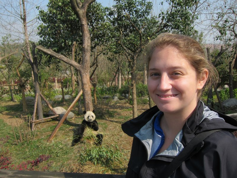 Steph and a cute panda