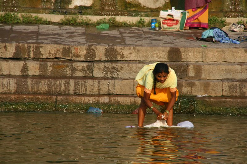 Doing the Laundry (by the cremation Ghats)