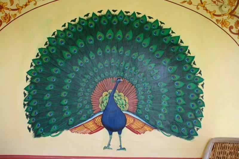 Beautiful Hand Painted Peacock
