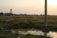 The Sun Setting Over the Cambodian Countryside
