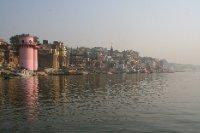 View Down the River Towards Manikarnika Ghat