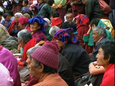 Public at Bumthang tsechu