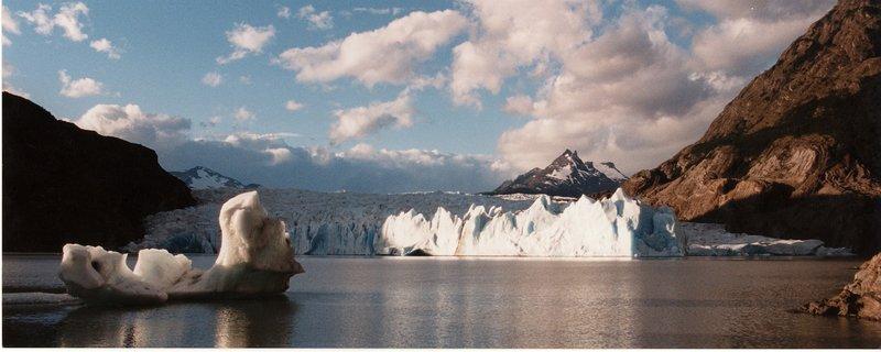 Glacier at Torres del Paine