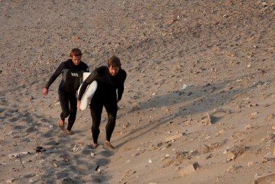 Trav and fellow surfer