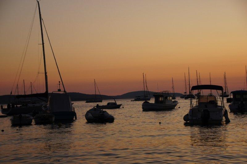 Hvar Harbour Sunset