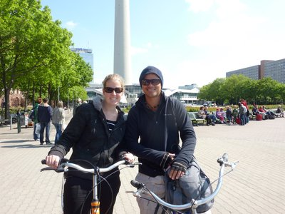 Bike tour of the city - so far we have done 3 bike tours and neither of us has fallen off (more of a success for Kate than Micka)