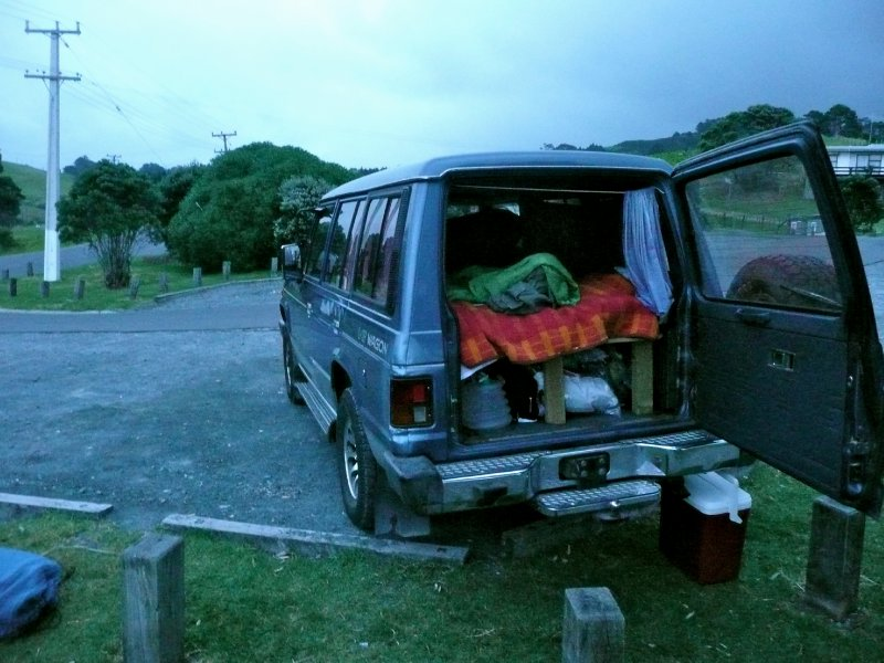 First night in my car with view onto goat island