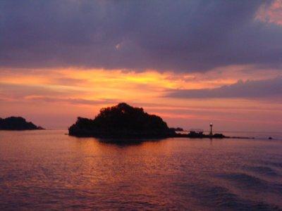 Sunset over Saladan