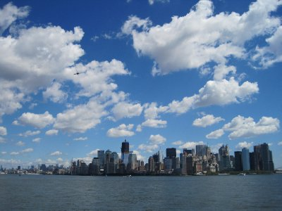 View of New York from Liberty Island