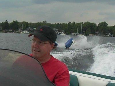 Wipeout on Lake Simcoe, Ontario