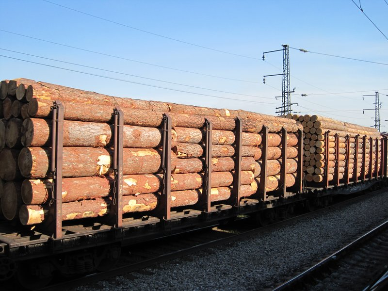 Logs Transported by Train, Siberia
