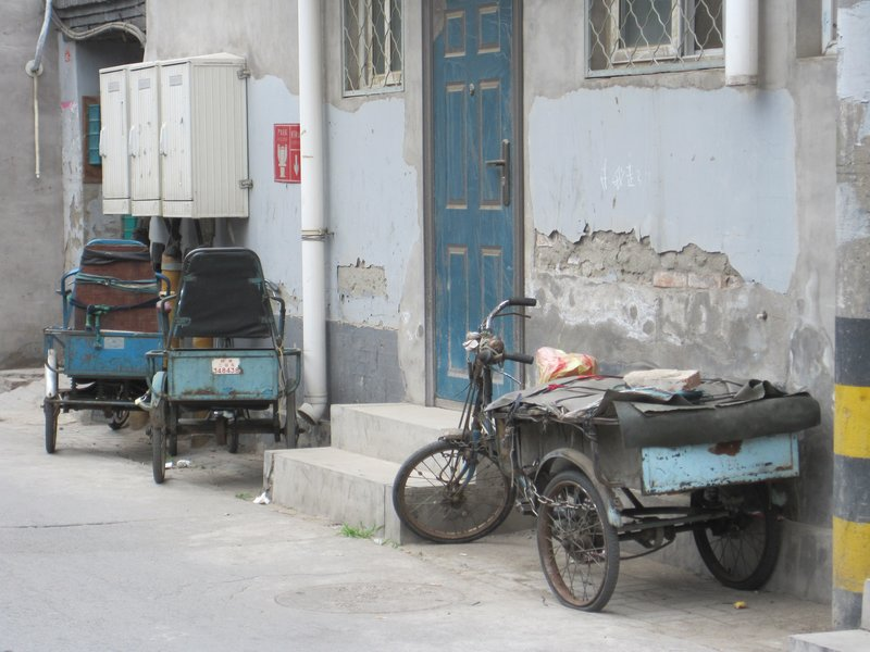 Tricycles on a Beijing Hutong
