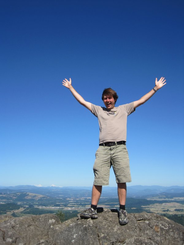 At the Summit of Spencer Butte, Eugene, Oregon
