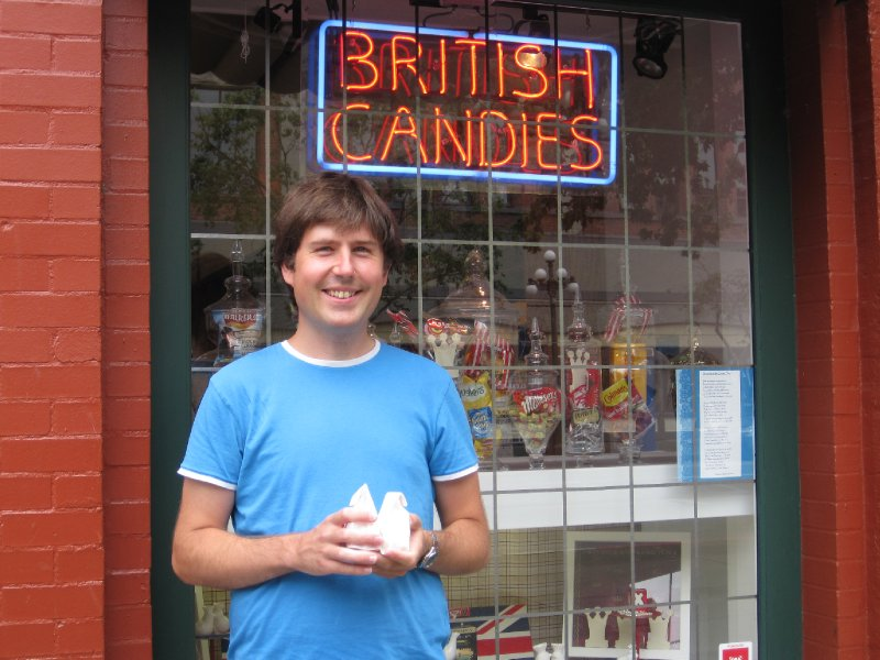 Outside British Candy Shoppe, Victoria, British Columbia