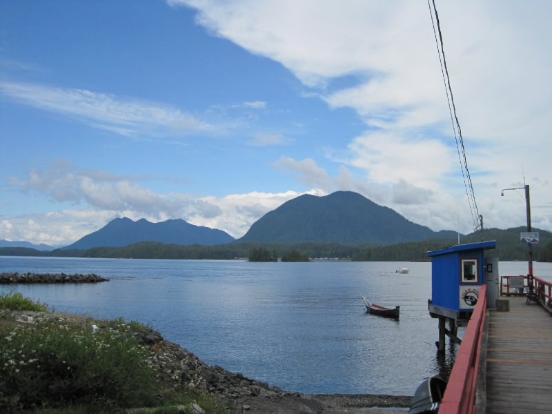 View of Meares Island from Tofino, British Columbia