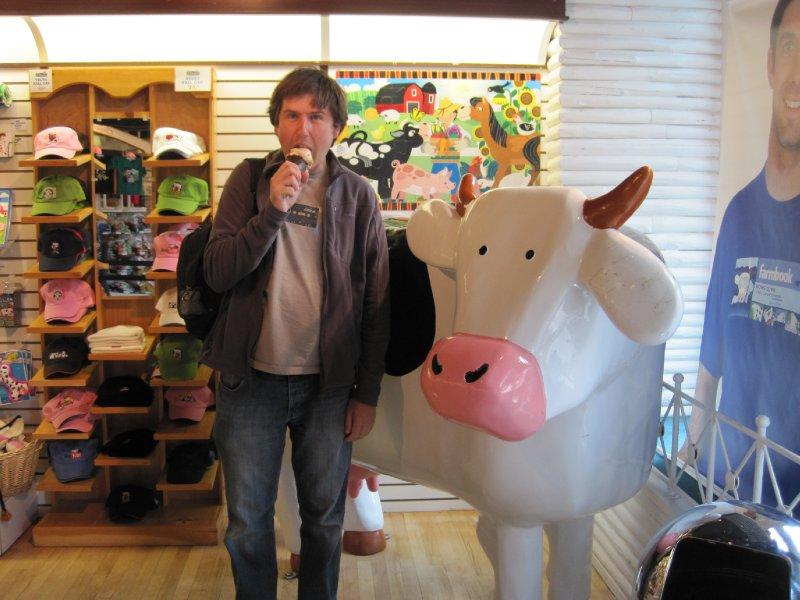 Enjoying an Ice Cream at Cows, Banff, Alberta