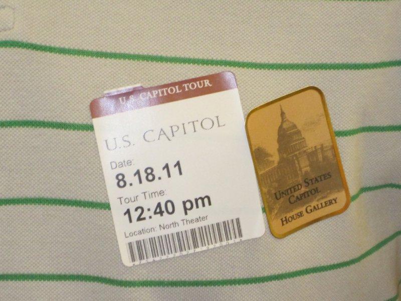 Stickers for Capitol Tour, Washington, DC