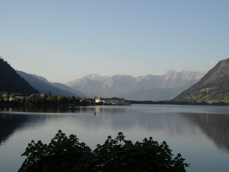 View from Zell am See Youth Hostel