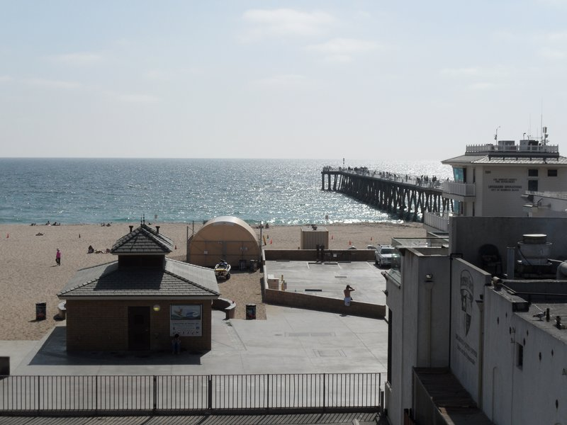 View from Surf City Hostel, Hermosa Beach