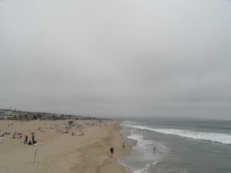 June Gloom in Hermosa Beach, Los Angeles