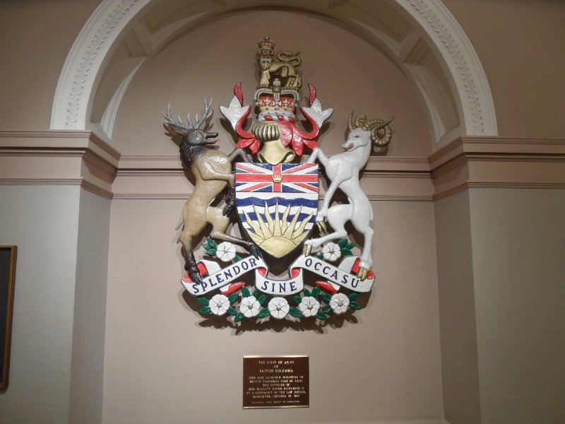 The Coat of Arms of British Columbia, Victoria