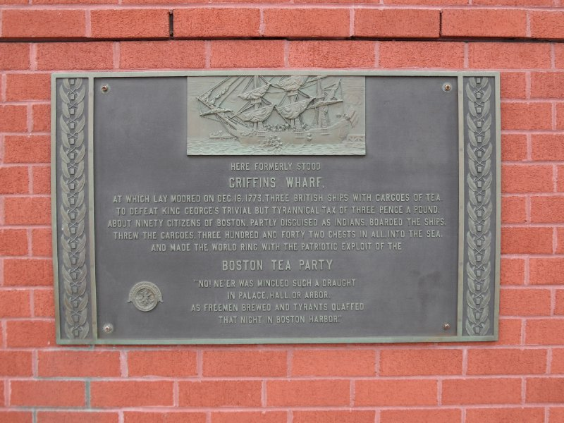Plaque Commemorating the Boston Tea Party, Boston, Massachusetts