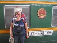 Karen Arrives in Beijing on Trans-Siberian Express