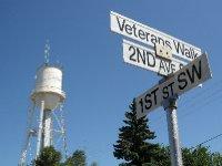 Street Sign and Water Tower, Carman, Manitoba
