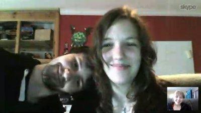 første skypesamtale med Marie