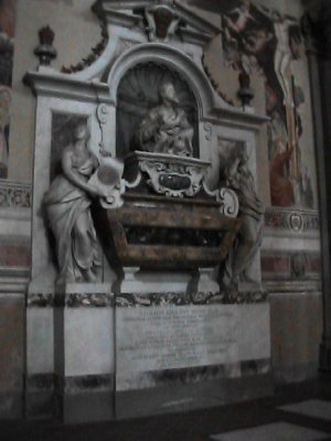 tomb of Galileo in Santa Croce