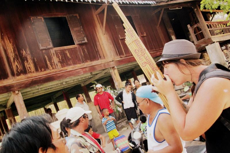 Playing the Khene (Laos Mouth Organ)
