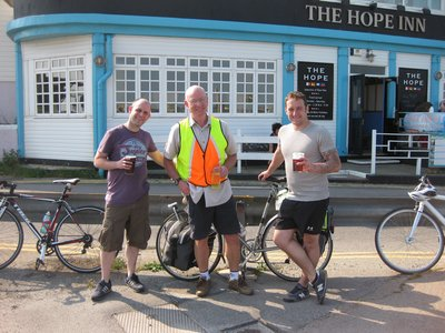 Outside the pub the good hope ... We moved away from the no hope