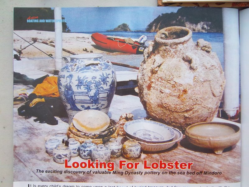 Article about Brian's First Wreck Discovery; Chinese Pottery of the Ming Dynasty