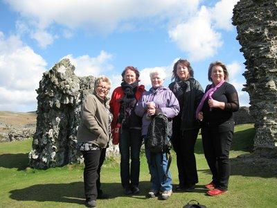 On top of Castille Dinas Bran- castle ruin in North Wales