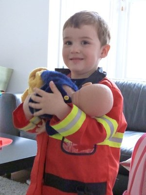 Emergency! Fireman Sam to the rescue.