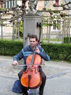Cello Busker Bruges