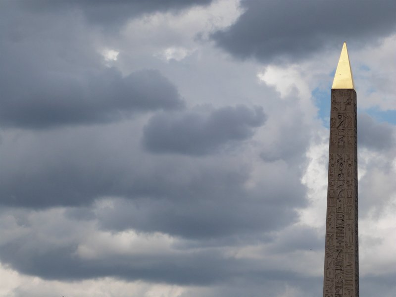 Obelisk in the clouds