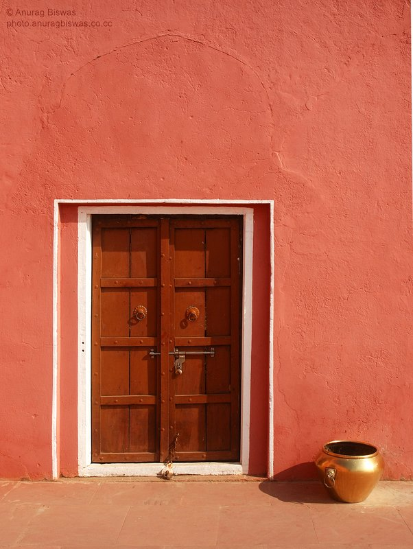 Pink wall in the Pink city of Jaipur