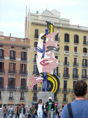 Sculpture on Barcelona Street