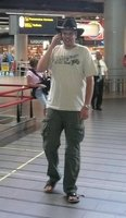 Me at Schiphol Airport.