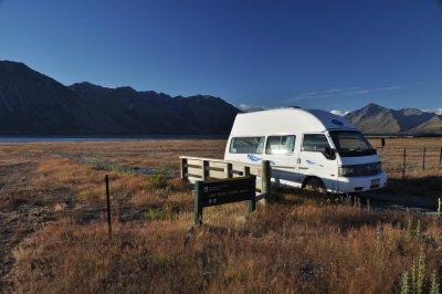 camper am lake tekapo
