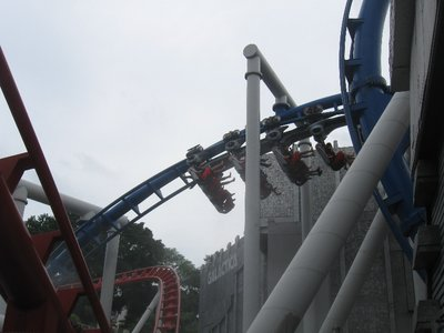 One of 7 rides for Susie on the Battlestar Galactica roller coaster at Universal Studios