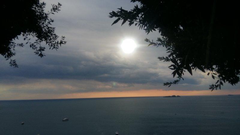 Sunset from Amalfi Coast
