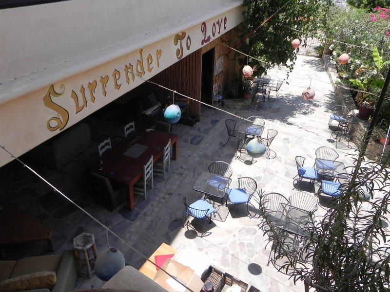 Raices y Brazos - looking down to Sabor de Amor organic restaurant