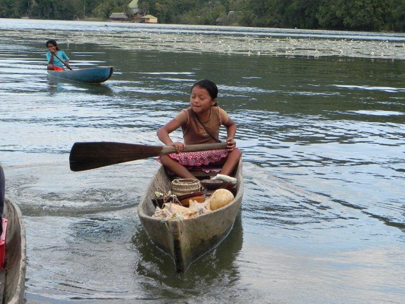 Guatemalan boy selling shells