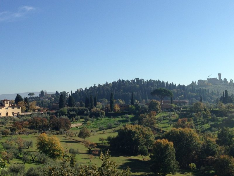 Hills south of Florence from Boboli Gardens