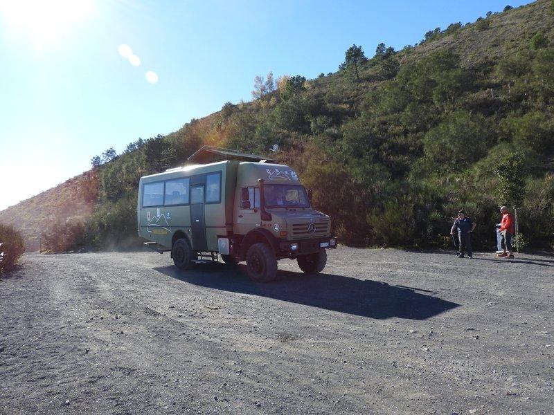 """Unimog"" bus to top of Vesuvius"