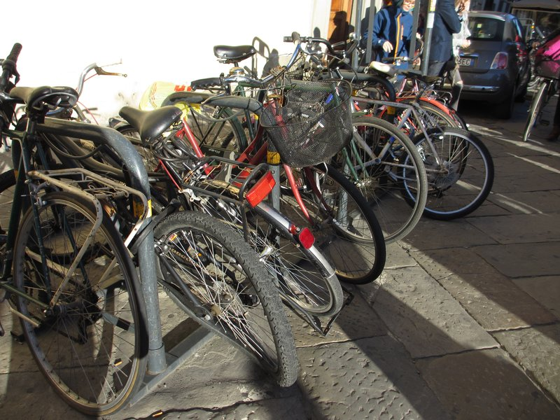 Florence streets are not kind to bicycles